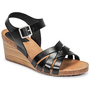 Sapatos Mulher Sandálias Kickers SOLYNIA Preto