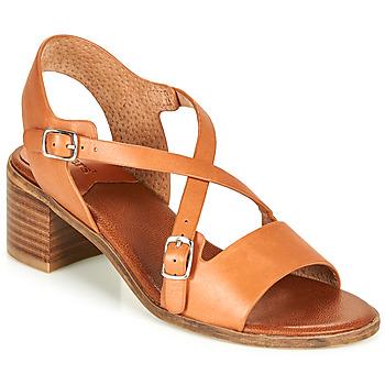Sapatos Mulher Sandálias Kickers VOLUBILIS Camel