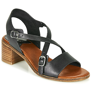Sapatos Mulher Sandálias Kickers VOLUBILIS Preto