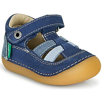 Sapatos Rapaz Sandálias Kickers SUSHY Azul