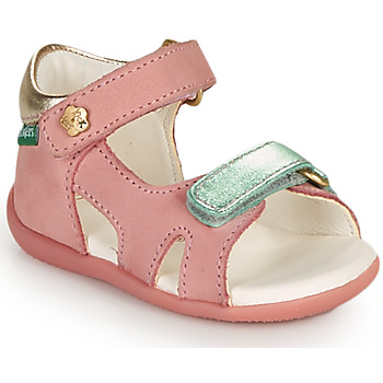 Sapatos Rapariga Sandálias Kickers BINSIA-2 Rosa
