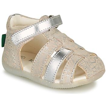 Sapatos Rapariga Sandálias Kickers BIGFLO-2 Prata
