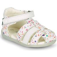Sapatos Rapariga Sandálias Kickers BIGFLO-2 Branco