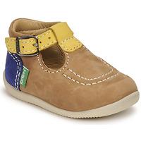 Sapatos Rapaz Sandálias Kickers BONBEK-2 Bege / Amarelo / Marinho