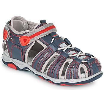 Sapatos Rapaz Sandálias Kickers KAWA Marinho / Vermelho