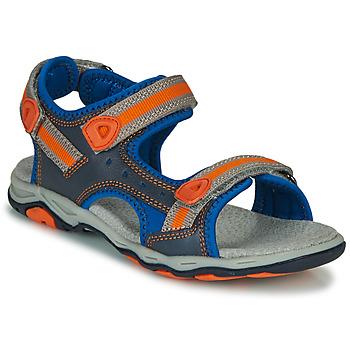 Sapatos Rapaz Sandálias Kickers KIWI Azul / Laranja