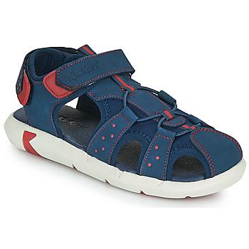 Sapatos Rapaz Sandálias Kickers JUMANGE Marinho