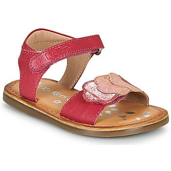 Sapatos Rapariga Sandálias Kickers DYASTAR Rosa