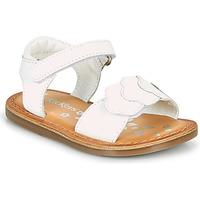 Sapatos Rapariga Sandálias Kickers DYASTAR Branco