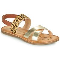 Sapatos Rapariga Sandálias Kickers DYACROSS Ouro