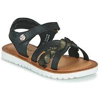 Sapatos Rapariga Sandálias Kickers BETTYL Preto