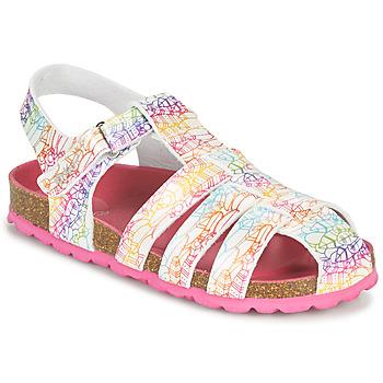Sapatos Rapariga Sandálias Kickers SUMMERTAN Branco