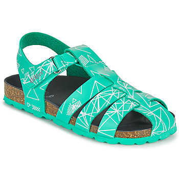 Sapatos Rapaz Sandálias Kickers SUMMERTAN Verde