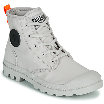 Sapatos Mulher Botas baixas Palladium PAMPA HI TWILL Cinza