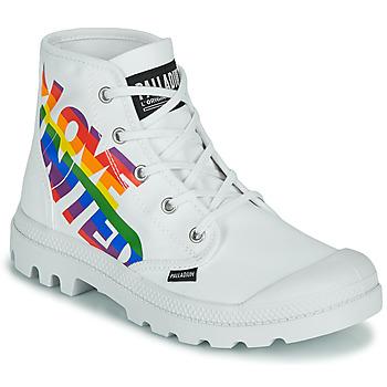 Sapatos Botas baixas Palladium PAMPA HI PRIDE Branco / Multicolor