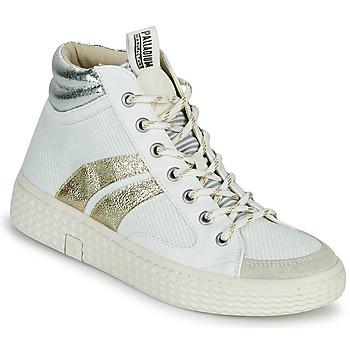 Sapatos Mulher Sapatilhas de cano-alto Palladium Manufacture TEMPO 03 TXT Branco