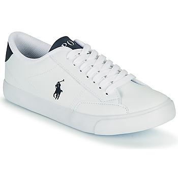 Sapatos Criança Sapatilhas Polo Ralph Lauren THERON IV Branco / Marinho