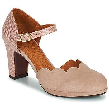 Sapatos Mulher Escarpim Chie Mihara SELA Rosa / Bege