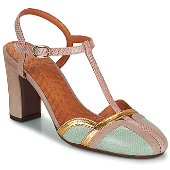 Sapatos Mulher Escarpim Chie Mihara INMA Bege / Rosa / Ouro