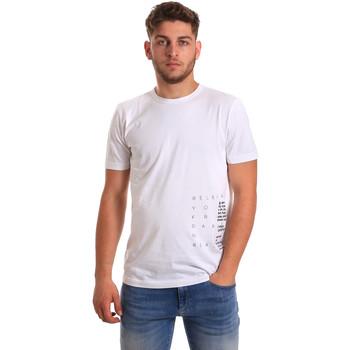 Textil Homem T-Shirt mangas curtas Antony Morato MMKS01223 FA100144 Branco