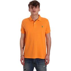 Textil Homem Polos mangas curta U.S Polo Assn. 55957 41029 Laranja
