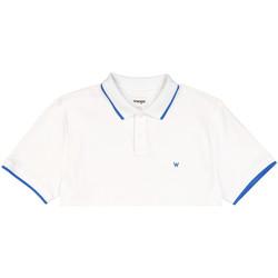 Textil Homem Polos mangas curta Wrangler W7D5K4989 Branco
