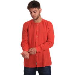 Textil Homem Camisas mangas comprida Gaudi 811BU45022 Vermelho