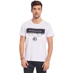 Textil Homem T-Shirt mangas curtas Gaudi 011BU64108 Branco