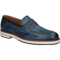 Sapatos Homem Mocassins Exton 605 Azul