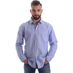 Textil Homem Camisas mangas comprida Gmf 962118/03 Azul