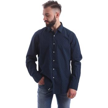 Textil Homem Camisas mangas comprida Gmf 962157/06 Azul