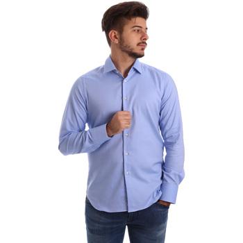 Textil Homem Camisas mangas comprida Gmf 962103/04 Azul