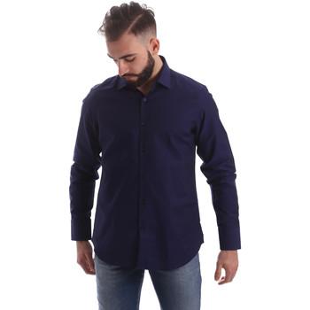 Textil Homem Camisas mangas comprida Gmf 962103/05 Azul