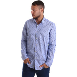 Textil Homem Camisas mangas comprida Gmf 971200/04 Azul