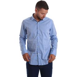 Textil Homem Camisas mangas comprida Gmf 971208/03 Azul