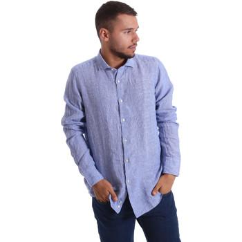 Textil Homem Camisas mangas comprida Gmf 971314/04 Azul