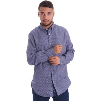 Textil Homem Camisas mangas comprida Navigare N691010BD Azul