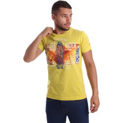 Textil Homem T-Shirt mangas curtas Navigare N631017 Amarelo