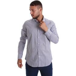 Textil Homem Camisas mangas comprida Gmf 971184/02 Azul