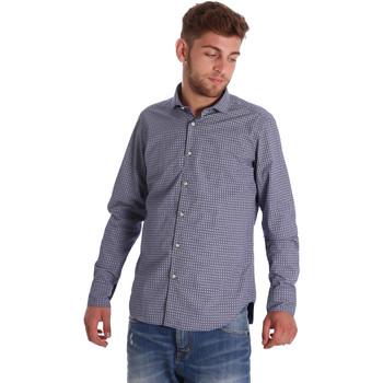 Textil Homem Camisas mangas comprida Gmf 971192/03 Azul