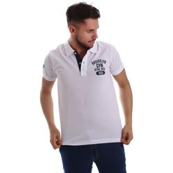 Textil Homem Polos mangas curta Key Up 255QG 0001 Branco