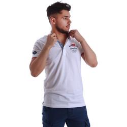 Textil Homem Polos mangas curta Key Up 262RG 0001 Branco