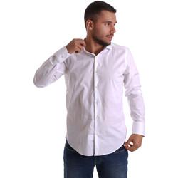 Textil Homem Camisas mangas comprida Gmf 971250/01 Branco