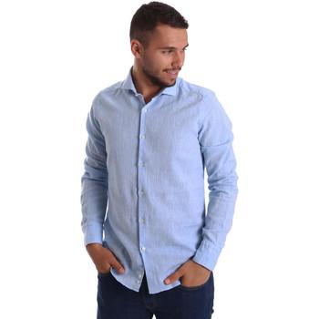 Textil Homem Camisas mangas comprida Gmf 971306/02 Azul
