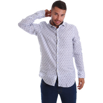 Textil Homem Camisas mangas comprida Gmf 971312/01 Azul