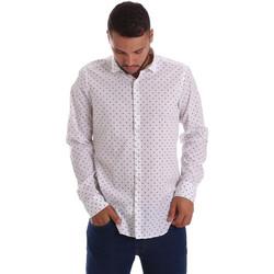 Textil Homem Camisas mangas comprida Gmf 971200/01 Branco