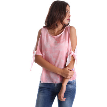 Textil Mulher Tops / Blusas Fornarina BE17T532CA11C5 Rosa