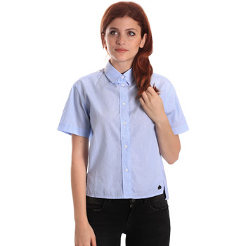 Textil Mulher camisas Fornarina BE174567CA1218 Azul