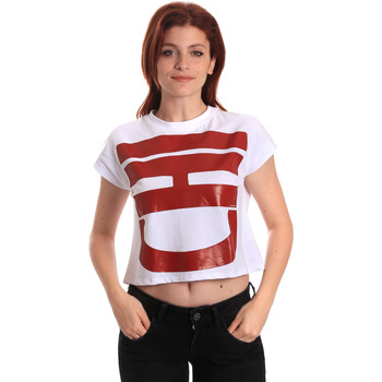 Textil Mulher T-Shirt mangas curtas Fornarina BE175L31JG0709 Branco