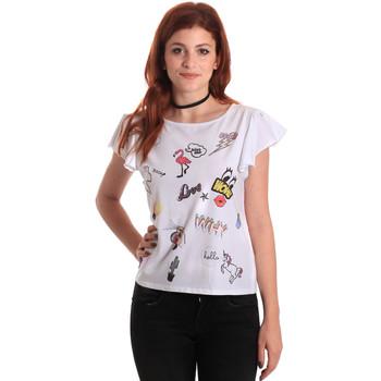 Textil Mulher T-Shirt mangas curtas Fornarina BE175L40JG0709 Branco